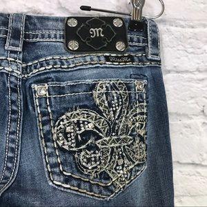 Miss Me Signature Slim Boot Fleur de lis Jeans 27